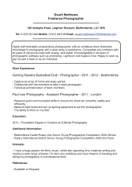 Sample Resume For All Types Of Jobs by Photographer Resume Sample Photographer Sample Resume Wedding