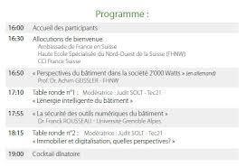 chambre de commerce franco suisse forum de l innovation suisse sur le bâtiment du futur à