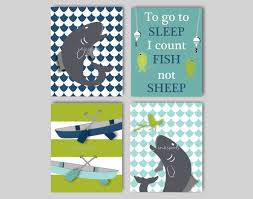 Fish Nursery Decor Baby Boy Nursery Fly Fishing Nursery Bedding Decor Fish
