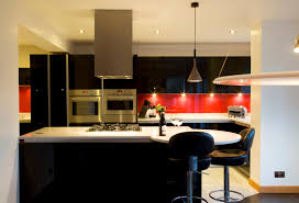 black white and red kitchen home design ideas