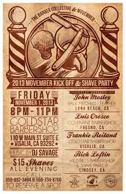 movember kick off party at goldstar barbershop visalia ca