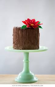 chocolate poinsettia cake poinsettia chocolate flowers and