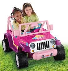 pink jeep 2 door power wheels barbie jammin u0027 jeep wrangler 12 volt battery powered