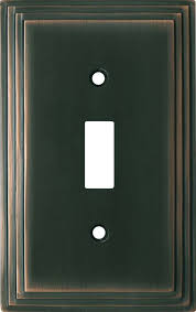 oil rubbed bronze light switch art deco step oil rubbed bronze switch plates outlet covers