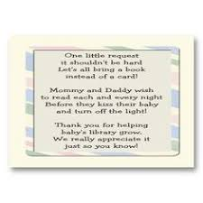 baby shower instead of a card bring a book striped bunny baby shower book poem insert card profilecard