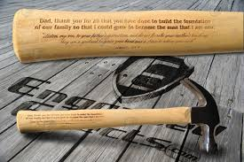 engraved thank you dad hammer with bible verse fathers day