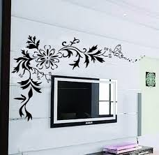large wall decals x large contemporary black flowers floral large wall decals x large contemporary black flowers floral tribal butterflies up to 64