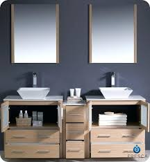bathroom vanity cabinets for vessel sinks bamboo double vessel
