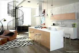 cuisine ouverte salon agencement de cuisine ouverte cuisine blanche ouverte sur salon