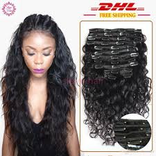 clip in human hair extensions 8a grade 100 water wave clip in human hair extensions wavy