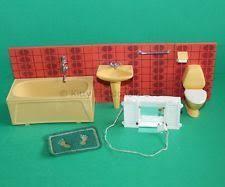 1950s vintage lundby dolls house bathroom doll house