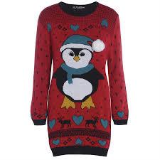 womens ladies snowman xmas christmas tree knitted dress sweater