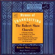 the robert shaw chorale hymns of thanksgiving vinyl album at