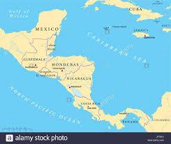 america map guatemala america central america guatemala central honduras map stock