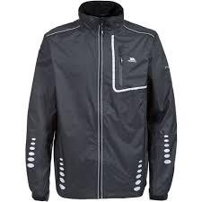 cycling coat trespass axle mens hi vis reflective windproof jacket waterproof