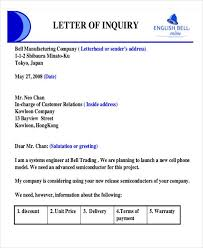 examples of inquiry letters for business 27 sample quotation letters