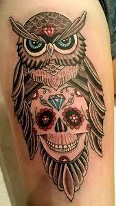 with skull tattoo