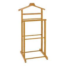 valet de chambre en bois de chambre en bois massif bambou jena 48x97x36 cm marron