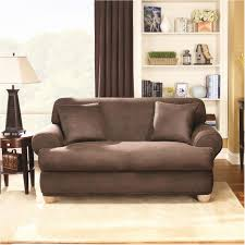 sure fit stretch leather 2pc sofa slipcover brown nepaphotos com