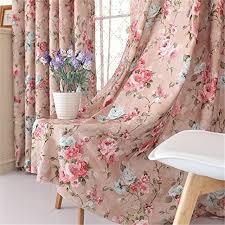 Retro Floral Curtains Vintage Floral Window Curtain Set Fancy European Royal