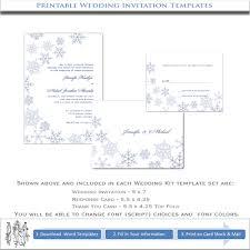 snowflake wedding invitations snowflake wedding invitation template diy or winter
