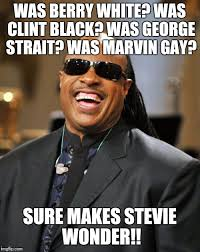 George Strait Meme - stevie wonder imgflip