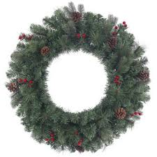 green artificial 24 inch canadian pine wreath with 240 tips free
