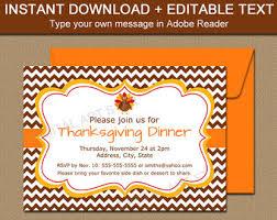 handmade thanksgiving invitations etsy
