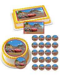 cars cake toppers cars 4 edible cake and cupcake toppers edible prints on cake epoc