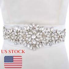wedding dress belts vintage pearl wedding sash belt with rhinestone wedding