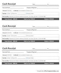 ms word cash receipt sample template office templates