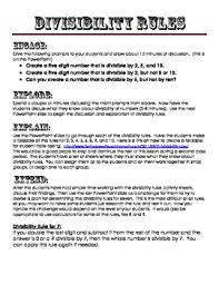 all worksheets divisibility rules worksheets with answers free