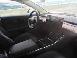 Tesla Carbon Fiber Interior Spied Tesla Model 3 Interior Has Similar Minimalism To Bmw I3