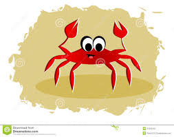 cartoon crab stock photography image 31565342
