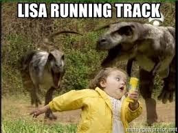Running Kid Meme - lisa running track dinosaur kid meme generator