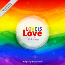abstract watercolor weaves pride day background vector free