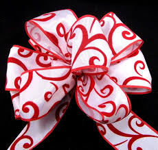 printed ribbon wholesale american ribbon wired embossed swirl american ribbon