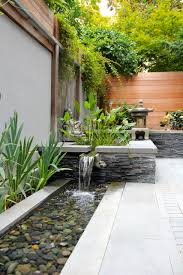 Back Garden Ideas Architecture Cedar Fence And Back Yard Ponds Also Stone Seat Wall