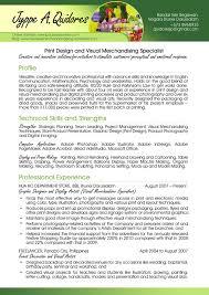 Visual Merchandising Resume Sample by Photoaltan18 Visual Merchandiser Resume Sample