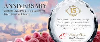 15th wedding anniversary gifts for engraved wedding anniversary gifts for every year