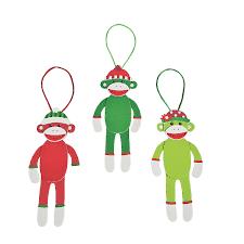 christmas sock monkey christmas ornament craft kit christmas