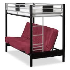 samba full futon bunk bed with red futon mattress value city