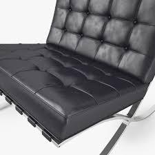 knoll barcelona chair 3d cgtrader
