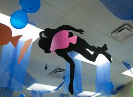 ceiling decoration ideas for underwater vbs theme at ocean