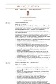 resume format for administration administration manager resume samples visualcv resume samples