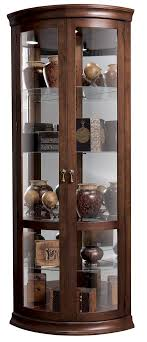 pulaski curio cabinet costco pulaski half round curio cabinet costco display with glass doors