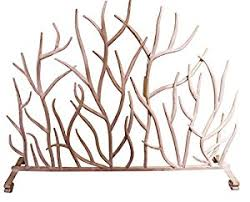 Fireplace Metal Screen by Amazon Com White Branches Iron Firescreen Open Tree Metal
