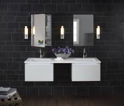 robern in bathroom contemporary with painted bathroom cabinets