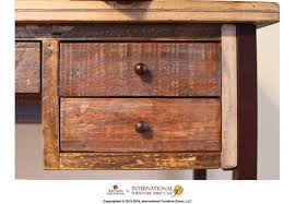 reclaimed wood writing desk ifd967desk in by international furniture direct in placerville ca