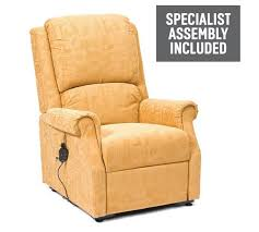 Buy Chicago Riser Recliner Chair With Single Motor Gold At Argos - Single chairs living room